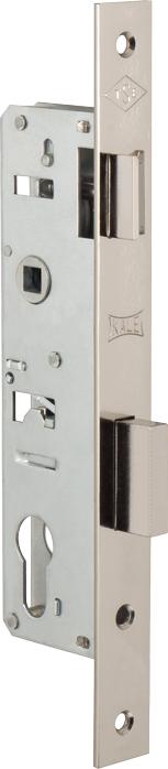 Корпус узкопрофильного замка с защёлкой 153 (25 mm) w/b (никель)