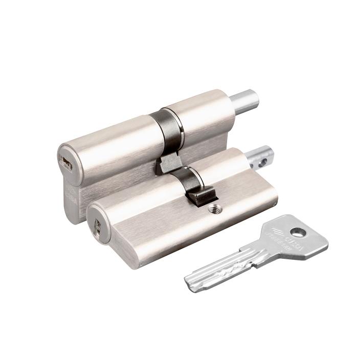 Цилиндровый механизм под вертушку Cisa ASIX OE302-13.12 (70 мм/30+10+30), НИКЕЛЬ