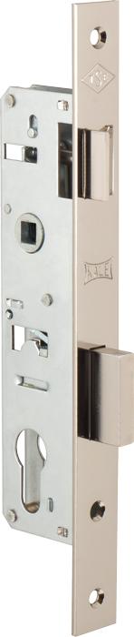 Корпус узкопрофильного замка с защёлкой 153 (35 mm) w/b (никель)