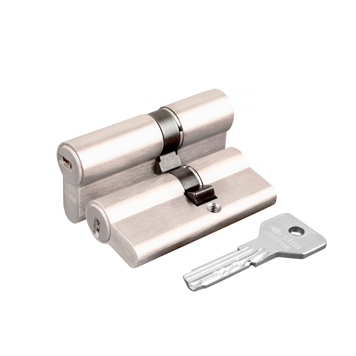 Цилиндровый механизм Cisa ASIX OE300-07.12 (60 мм/25+10+25), НИКЕЛЬ