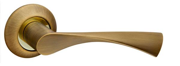 Ручка раздельная CLASSIC AR AB/GP-7 бронза/золото, квадрат 8x140 мм