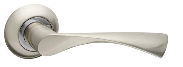 Ручка раздельная CLASSIC AR SN/CP-3 матовый никель/никель, квадрат 8x140 мм
