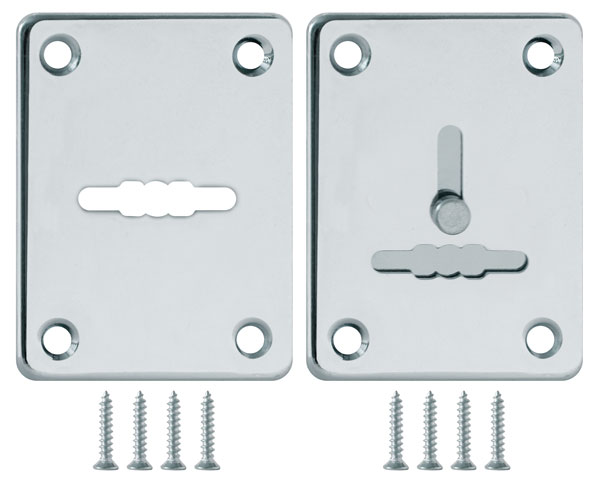 Декоративная накладка ESC081/082-CP-8 (ХРОМ) на сув. замок сталь (1пара)